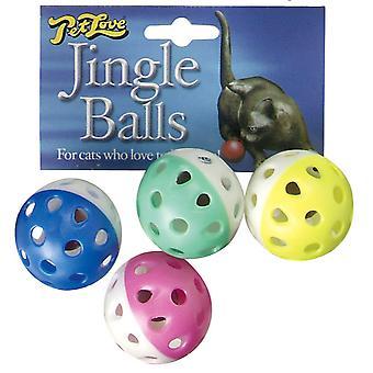 Petlove Jingle Balls 4pack (Pack of 6)