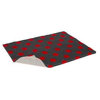 Skridsikre Vetbed kul med rød Polka Dot 137x76cm (54 x 30