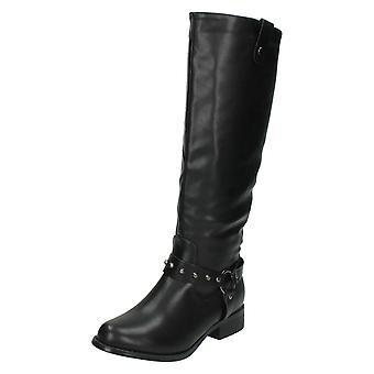 Damen vor Ort am Knie hohe Stiefel / Low Heel