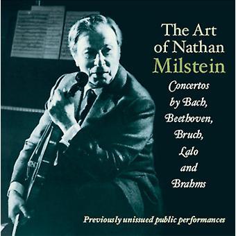Brahms/Bruch/Bach - kunst af Nathan Milstein [CD] USA importen