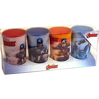 Marvel Avengers Captain America Lenticular Tumbler Set (4 Pieces)