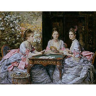 John Everett Millais - Hearts are Trumps Poster Print Giclee