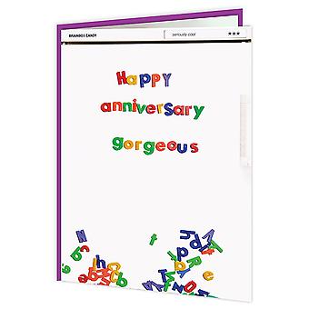 Brainbox Candy Happy Anniversary Gorgeous Fridge Card