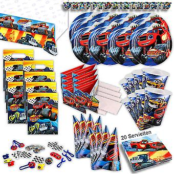 Blaze monster machine party set 94-teilig for 8 guests monster truck party package