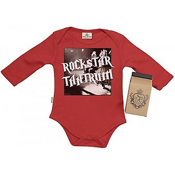 Spoilt Rotten RockStar Tantrum Baby Grow 100% Organic In Milk Carton