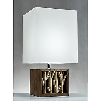 Modern Home Nautical Driftwood Wood Box Table Lamp - Medium