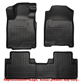 Husky Liners 98451 Black WeatherBeater Front & 2nd Seat FITS:HONDA 2012 - 2014