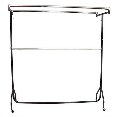 6& Extended noir Chrome Garment Double Top Bars 18W 185H 50cmD
