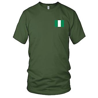 Nigeria Country National Flag - Embroidered Logo - 100% Cotton T-Shirt Kids T Shirt