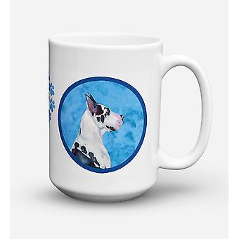 Great Dane  Dishwasher Safe Microwavable Ceramic Coffee Mug 15 ounce