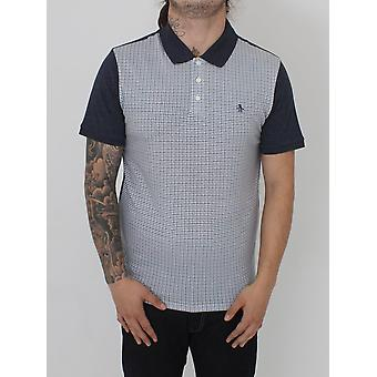 Penguin S/S Printed Front Polo - Dark Sapphire