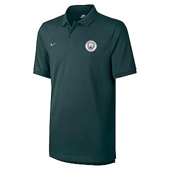 2017-2018 man City Nike authentique Grand Chelem Polo Shirt (vert en plein air)