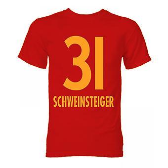 Bastian Schweinsteiger बेयर्न म्यूनिख हीरो टी शर्ट (लाल)