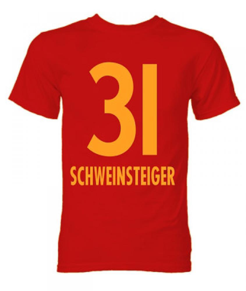 Bastian Schweinsteiger Bayern München helten T-Shirt (rød)