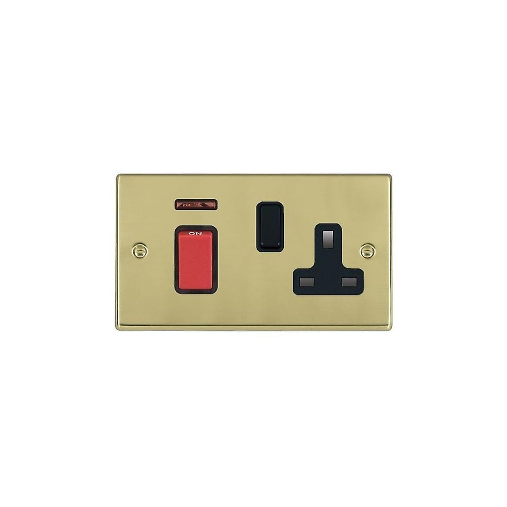 Hamilton Litestat Hartland Polished Brass 45DP + Neon+SS1 BL rouge BL