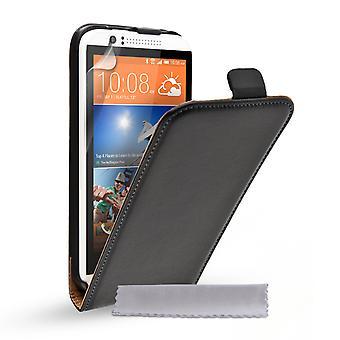 Caseflex HTC Desire 510 aus echtem Leder Flip Case - schwarz