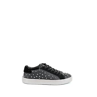 Crime London Damen 2510220 Grau/Schwarz Leder Sneakers