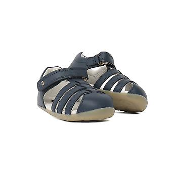 Bobux Step Up Jump Toddlers Navy Leather Closed Toe Sandal