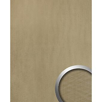 Wall Panel metal optics WallFace 20198 METALLIC USED champagne AR wall tiling in the used look and with metallic accents adhesive abrasion resistant grey grey beige 2,6 m2