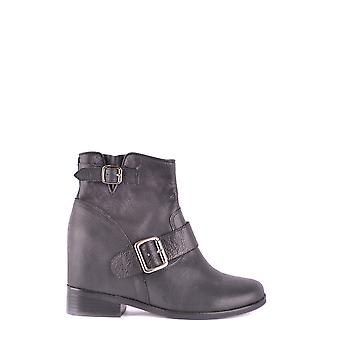 Jeffrey Campbell women's MCBI163025O black leather ankle boots