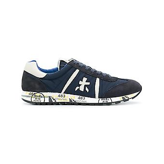 Premiata men's LUCY2808 Blau leather of sneakers