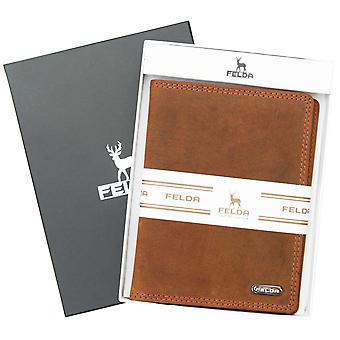 Felda Rfid Blocking Leather Passport Cover Holder Travel Wallet With Boarding Pass Slot - Gift Boxed