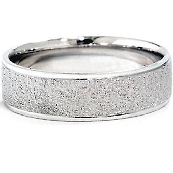 Rivestimento in pietra Wedding Band 14k White Gold