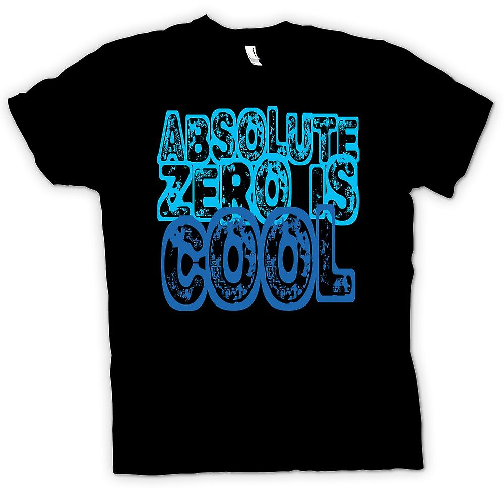 Mens T-shirt - Absolute zero is cool - Quote