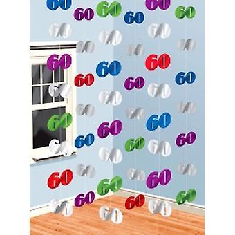 60 hængende streng dekorationer pakke med 6