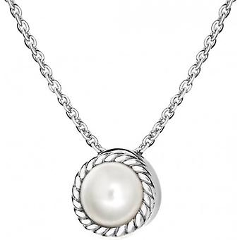 IBB London June Birthstone Pearl Necklace - Silver/Pearl Cream