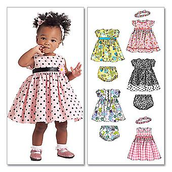 Infants' Lined Dresses, Panties and Headband-All Sizes in One Envelope -*SEWING PATTERN*