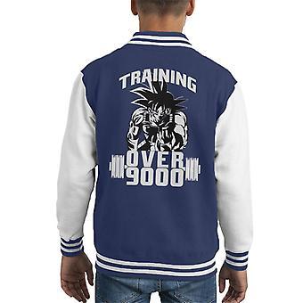 Dragon Ball Z Goku Training Over 9000 Kid's Varsity Jacket