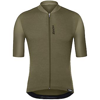 Santini Green 365 Classe Short Sleeved Cycling Jersey