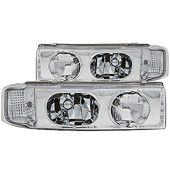Anzo USA 111001 Chevrolet Astro 1 Pc Chrome Headlight Assembly - (Sold in Pairs)