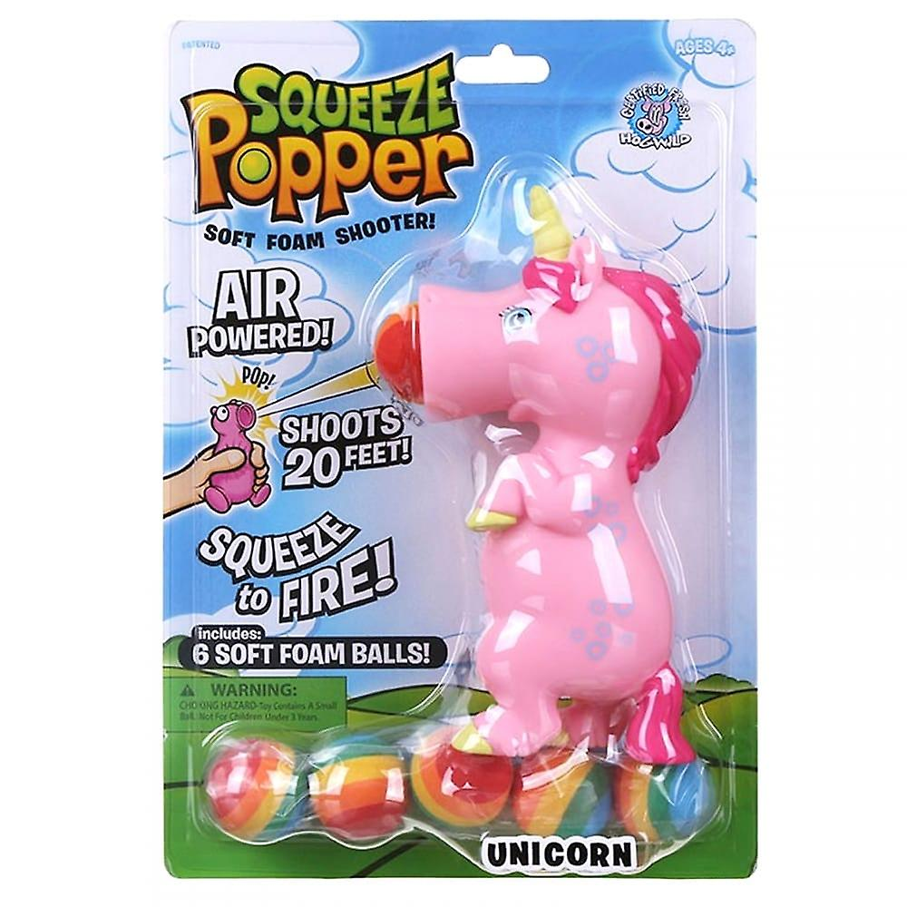 Cheatwell Games Pink Unicorn Squeeze Popper - 2 Pack Soft Foam Shooter Bundle
