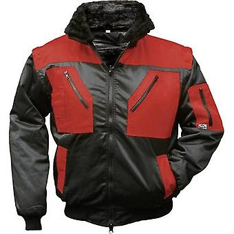 L+D Griffy 4207 4-in-1 Multi-Functions-Pilot jacket with warning effect. Black, Red S