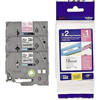 Labelling tape 3-piece set Brother TZe, TZ TZe-32M3 Tape colour: White, Pink Font colour:Black, White 12 mm 8 m
