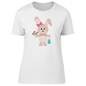 Girly Bunny With Flowers And Egg Tee Women's -Image by Shutterstock