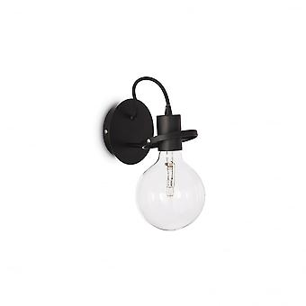 Ideal Lux Radio Wall Light Black