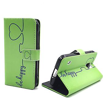 Mobile phone case pouch for mobile Samsung Galaxy S5 active be happy Green