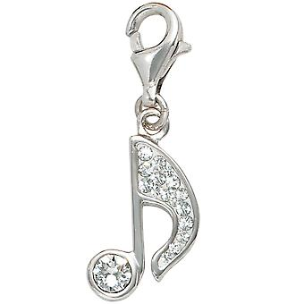 Single earrings NOTE 925 sterling silver rhodium plated silver with crystals charm