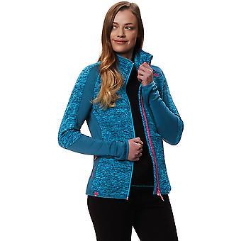 Regatta Womens Ladies Laney V Polyester Marl Knit Fleece Jacket Coat cd0eead060157