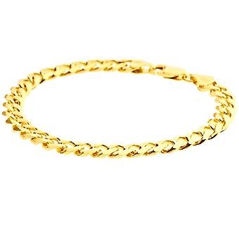 Sterling 925 Silver curb chain bracelet - CURB 6, 7 mm gold