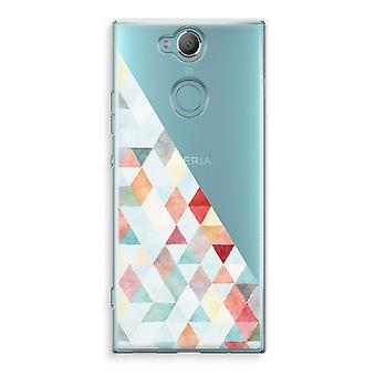 Sony Xperia XA2 Transparent Case (Soft) - Coloured triangles pastel