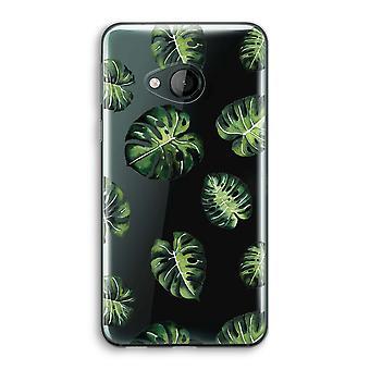 HTC U Play Transparent Case (Soft) - Tropical leaves