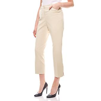 sheego business trousers with hem slit ladies beige