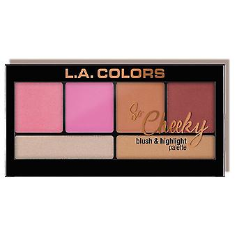 L.A. Colors So Cheeky palette blusher and highlighter Pink and Playful (Makeup , Palets)