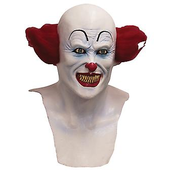 Scary Clown Horror Joker Evil Sinister Creepy Mens Costume Overhead Mask & Hair