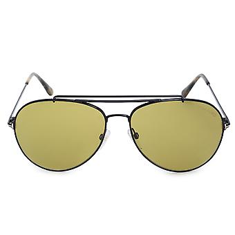 Tom Ford Indiana Aviator Sunglasses FT0497 01N 58