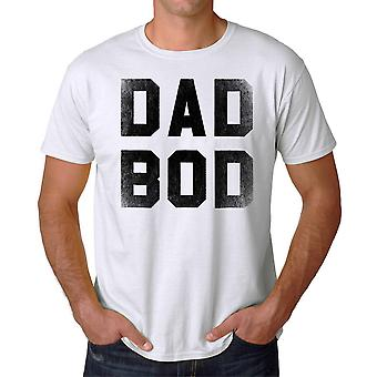 Funny Dad Bod Graphic Men's White T-shirt